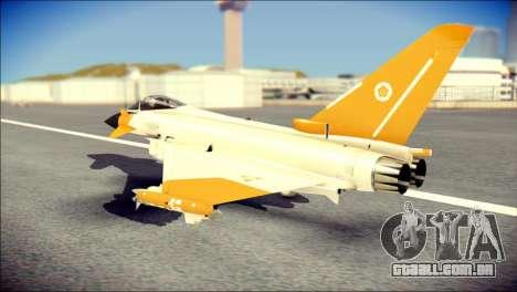 EF-2000 Typhoon  Federal Erusea Air Force para GTA San Andreas esquerda vista