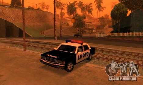 Beta LVPD Police para GTA San Andreas traseira esquerda vista