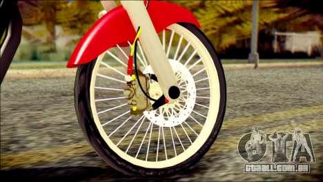 Yamaha Scorpio Z para GTA San Andreas traseira esquerda vista