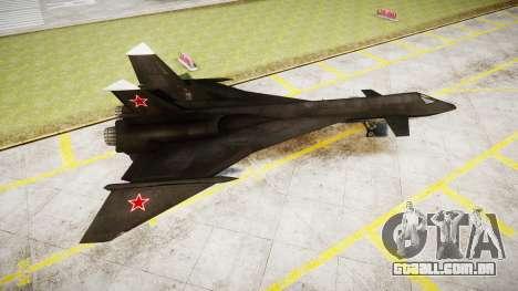 O MiG-31 De Raposa De Fogo para GTA 4 esquerda vista