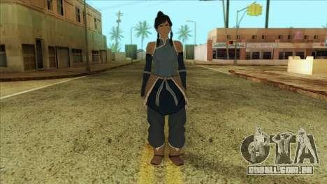 Korra Skin from The Legend Of Korra para GTA San Andreas