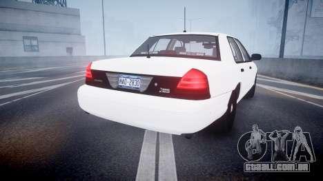 Ford Crown Victoria LCPD Unmarked [ELS] para GTA 4 traseira esquerda vista