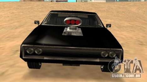Sabre Charger para GTA San Andreas vista inferior