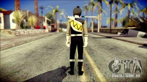 Power Rangers Kyoryu Black Skin para GTA San Andreas segunda tela
