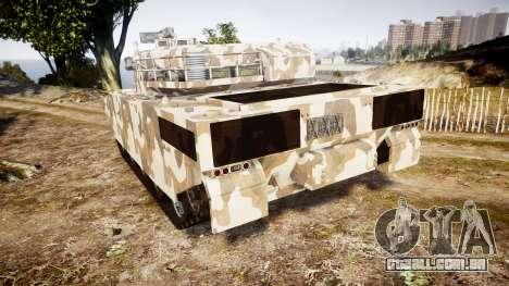 GTA V Rhino para GTA 4 traseira esquerda vista