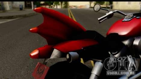 Honda Shadow 750 para GTA San Andreas vista traseira