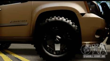 Chevrolet Suburban 4x4 para GTA San Andreas vista traseira