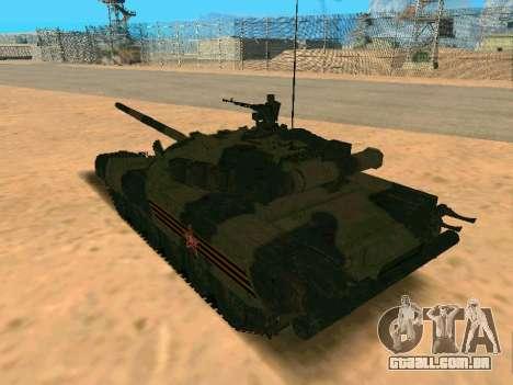 T-80U para GTA San Andreas esquerda vista