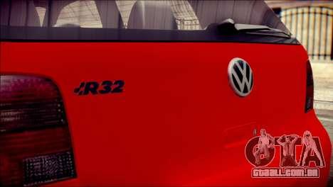 Volkswagen Golf R33 2015 para GTA San Andreas vista traseira