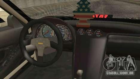 Acura NSX Miku Ghoul Itasha para GTA San Andreas vista direita