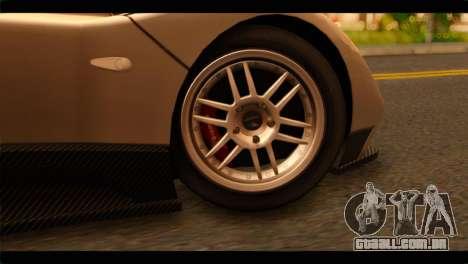 Pagani Zonda F para GTA San Andreas traseira esquerda vista