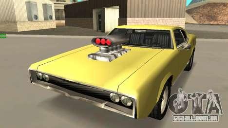 Sabre Charger para GTA San Andreas vista interior