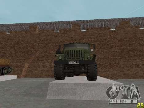 Ural 375 Grad MLRS para vista lateral GTA San Andreas