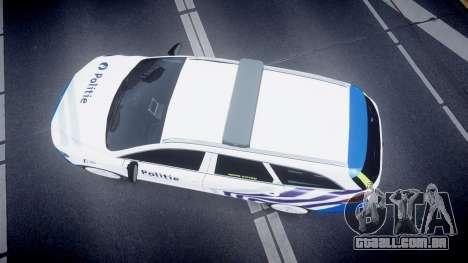 Ford Fusion Estate 2014 Belgian Police [ELS] para GTA 4 vista direita