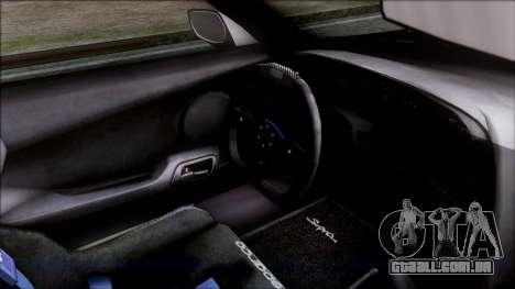 Toyota Supra 1999 Tina Sprout Itasha para GTA San Andreas vista direita