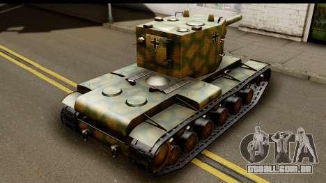 KV-2 German Captured para GTA San Andreas esquerda vista