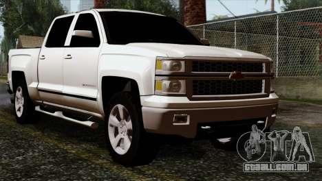 Chevrolet Silverado 2014 LTZ para GTA San Andreas