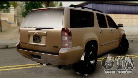 Chevrolet Suburban 4x4 para GTA San Andreas esquerda vista