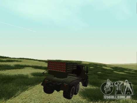 Ural 375 Grad MLRS para GTA San Andreas vista traseira