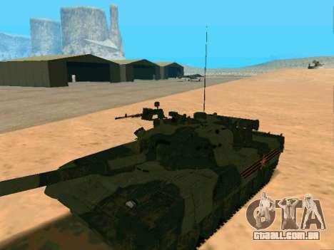 T-80U para GTA San Andreas vista traseira
