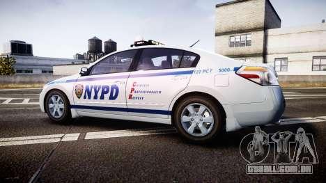 Nissan Altima Hybrid NYPD para GTA 4 esquerda vista