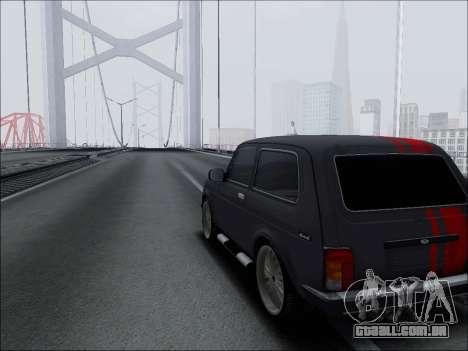 Lada Niva para GTA San Andreas vista interior