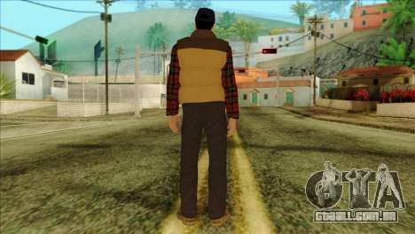 Big Rig Alex Shepherd Skin without Flashlight para GTA San Andreas segunda tela