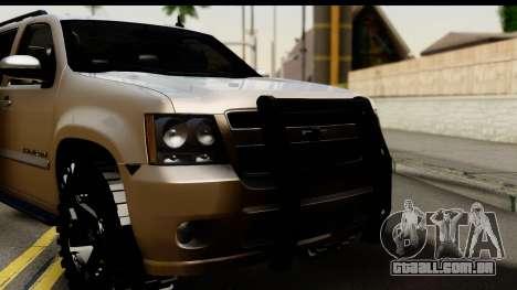 Chevrolet Suburban 4x4 para GTA San Andreas traseira esquerda vista
