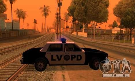 Beta LVPD Police para GTA San Andreas vista direita