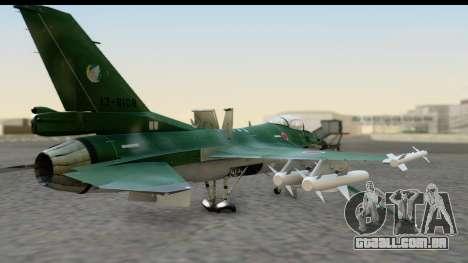 F-2A Zero Dark Green para GTA San Andreas esquerda vista