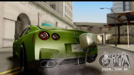 Nissan GT-R Dragster para GTA San Andreas vista direita