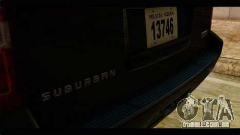 Chevrolet Suburban 2010 FBI para GTA San Andreas vista traseira