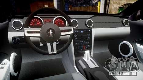 Ford Mustang Convertible Mk.V 2008 para GTA 4 vista de volta