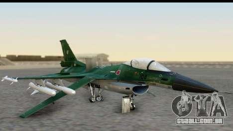 F-2A Zero Dark Green para GTA San Andreas