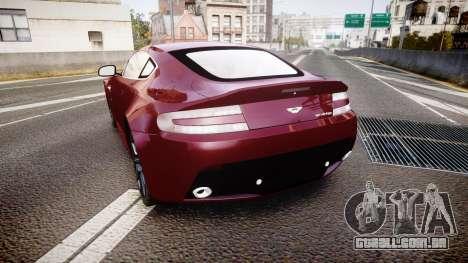 Aston Martin V12 Vantage 2010 para GTA 4 traseira esquerda vista