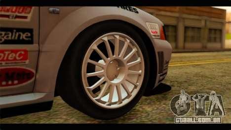 Audi S4 B5 2002 Champion Racing para GTA San Andreas traseira esquerda vista
