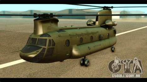 CH-47 Chinook para GTA San Andreas
