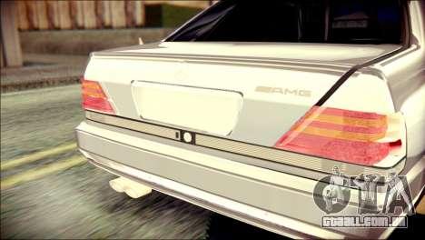 Mercedes-Benz W140 para GTA San Andreas vista traseira