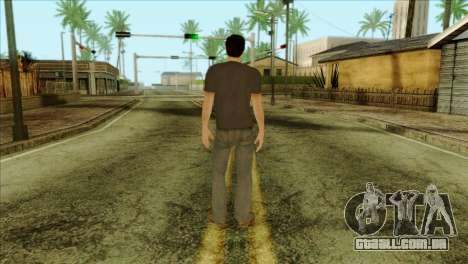 Young Alex Shepherd Skin without Flashlight para GTA San Andreas segunda tela