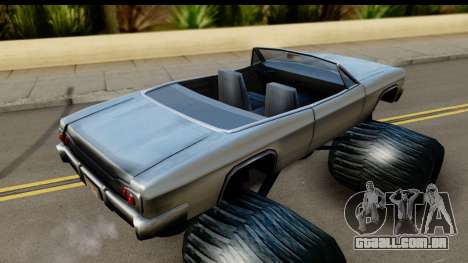 Monster Blade para GTA San Andreas traseira esquerda vista
