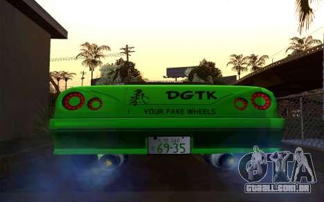 DGTK Elegy v1 para GTA San Andreas traseira esquerda vista