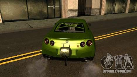 Nissan GT-R Dragster para vista lateral GTA San Andreas