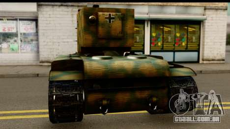 KV-2 German Captured para GTA San Andreas traseira esquerda vista