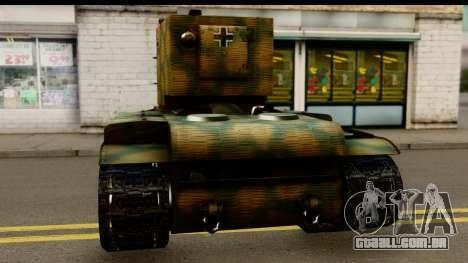 KV-2 German Captured para GTA San Andreas traseira esquerda vista