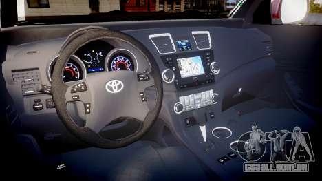 Toyota Hilux SW4 2015 para GTA 4 vista de volta