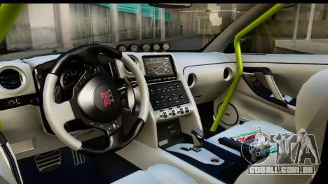 Nissan GT-R Dragster para GTA San Andreas vista interior