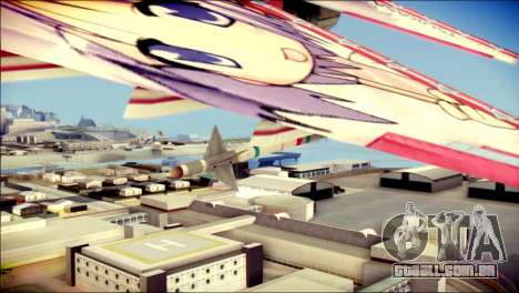 MIG-29 Shrine Maiden Hiragi para GTA San Andreas vista direita