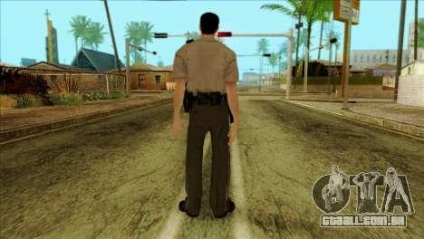 Depurty Alex Shepherd Skin without Flashlight para GTA San Andreas segunda tela