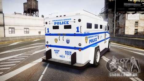 GTA V Brute Police Riot [ELS] skin 4 para GTA 4 traseira esquerda vista