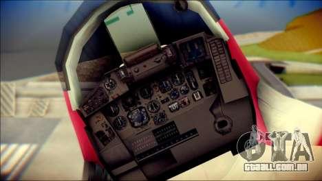 MIG-29 Shrine Maiden Hiragi para GTA San Andreas vista traseira